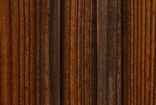 きれいな木目の杉板壁の写真素材 [FYI00124944]