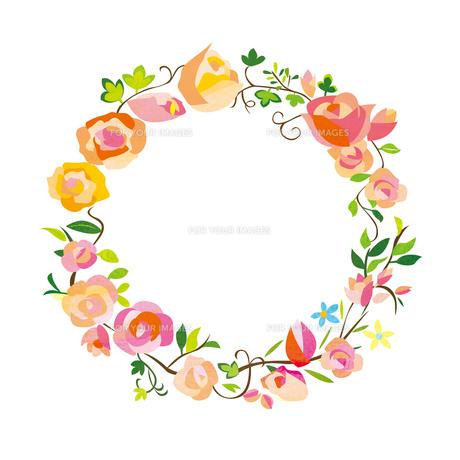 花のフレームの素材 [FYI00125922]