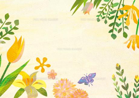 花のフレームの素材 [FYI00125925]