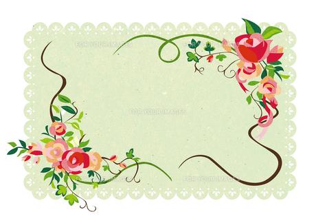 花のフレームの素材 [FYI00125929]