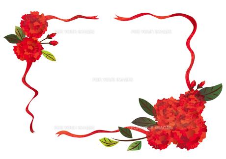 花のフレームの素材 [FYI00125934]