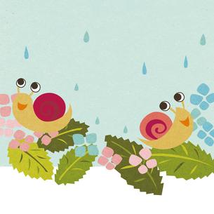 雨の日のカタツムリの写真素材 [FYI00125943]