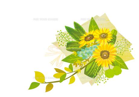 ひまわりの花束の素材 [FYI00125951]