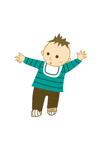 歩き始めた赤ちゃんの写真素材 [FYI00125959]