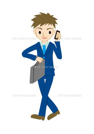 電話する若い男性の素材 [FYI00125961]