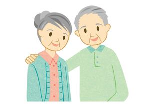 仲の良い老夫婦の素材 [FYI00125967]