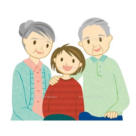 仲の良い老夫婦と孫の素材 [FYI00125973]
