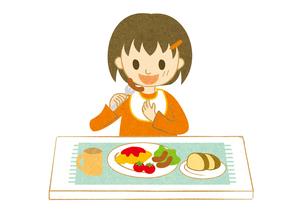 食事する子供の写真素材 [FYI00125978]