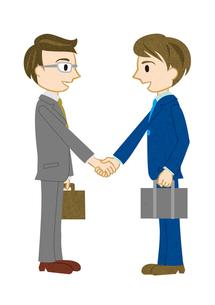 握手するサラリーマンの素材 [FYI00125980]