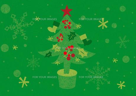 クリスマスツリーの素材 [FYI00125982]