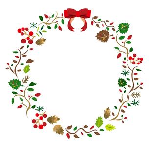 クリスマスリースの素材 [FYI00125988]