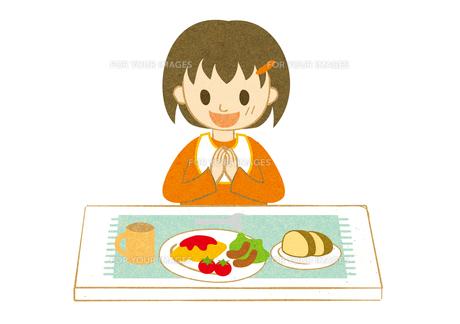 食事する子供2の素材 [FYI00125998]