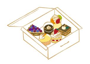 ケーキの持ち帰りの素材 [FYI00126000]