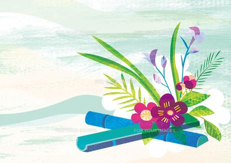 正月イメージ 生け花の素材 [FYI00126007]