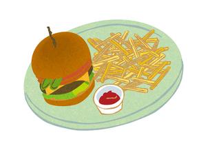 ハンバーガーとポテトの写真素材 [FYI00126008]