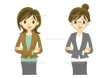 スーツを着た女性の写真素材 [FYI00126030]
