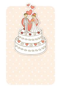ウエディングケーキの上のカップルの写真素材 [FYI00126038]