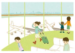 空港を歩く若い女性の素材 [FYI00126046]