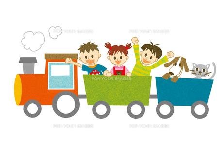 汽車に乗って騒ぐ子供たちの写真素材 [FYI00126051]