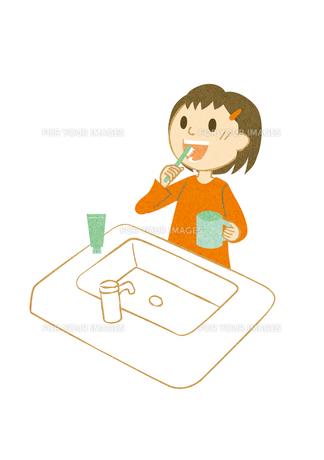 歯を磨く子供の写真素材 [FYI00126056]