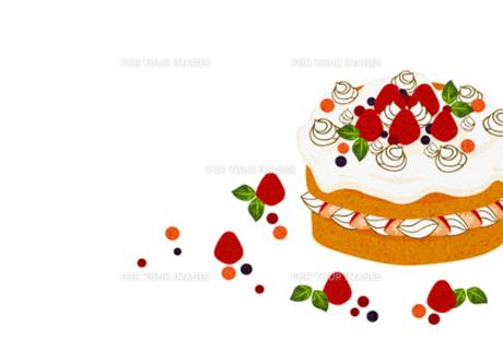イチゴのホールケーキの素材 [FYI00126079]