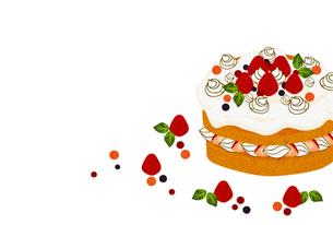 イチゴのホールケーキの写真素材 [FYI00126079]