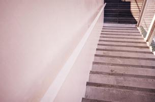 白い階段の写真素材 [FYI00126176]