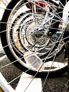 自転車の車輪の写真素材 [FYI00126350]
