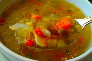野菜スープの写真素材 [FYI00126378]