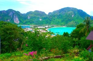ピピ島の風景の写真素材 [FYI00126499]