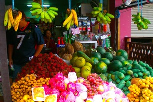 タイの果物屋さんの写真素材 [FYI00126529]