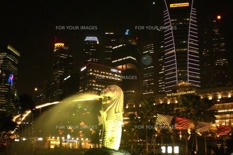 シンガポール、マーライオンの写真素材 [FYI00126537]