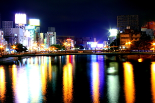 博多の夜景の写真素材 [FYI00127010]