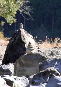 四万十川の岩の写真素材 [FYI00127369]