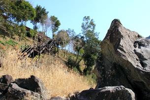 四万十川の岩 3の写真素材 [FYI00127375]
