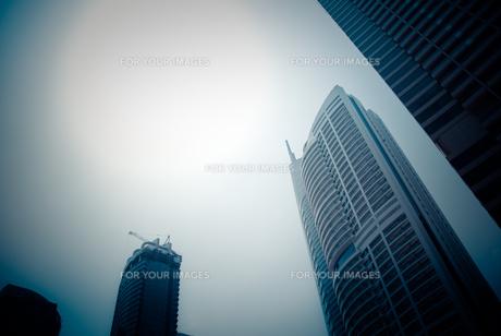ドバイの高層ビル群の写真素材 [FYI00127893]