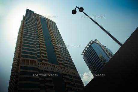 ドバイの高層ビル群の写真素材 [FYI00127906]