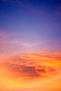 夕方の空の写真素材 [FYI00127977]