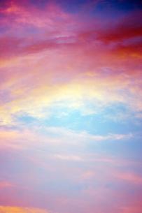 夕方の空の写真素材 [FYI00128002]