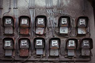 古い電気メーターの写真素材 [FYI00128157]