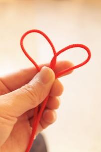 赤い糸の写真素材 [FYI00128366]