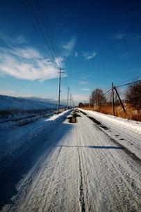 雪道の素材 [FYI00128379]