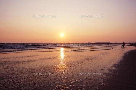 夕方の海辺の素材 [FYI00128390]