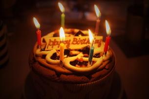 誕生日ケーキの素材 [FYI00128403]