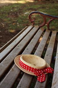 ベンチとカンカン帽の素材 [FYI00128416]