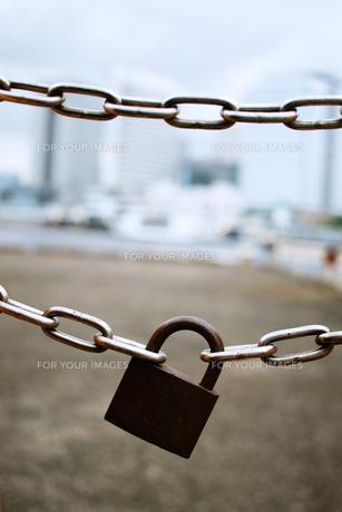 南京錠の写真素材 [FYI00128417]