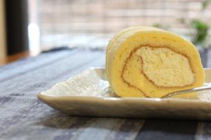 ロールケーキの写真素材 [FYI00128635]