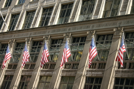 ニューヨーク 星条旗の写真素材 [FYI00128690]