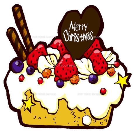 クリスマスケーキの写真素材 [FYI00128826]