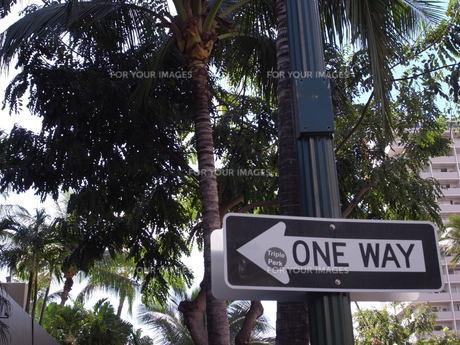 ハワイ 標識の写真素材 [FYI00128828]